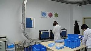 Hospital pharmacy - Electric track vehicle system for hospitals, type Telelift