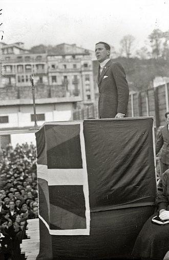 Telesforo Monzón - Telesforo Monzon at Aberri Eguna (Fatherland Day) celebrations, 1933.