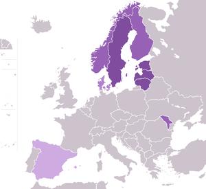 Telia Company - Image: Telia i Europa