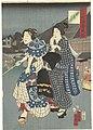 Tempel festival De zeven Komachi en gebruiken in het Oosten (serietitel) Nana Komachi Azuma fuzoku (serietitel op object), RP-P-2008-211C.jpg