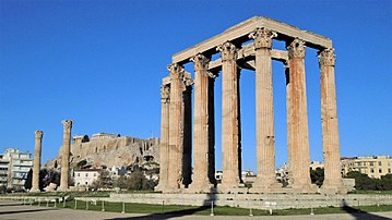 Temple Of Olympian Zeus Athens Wikipedia