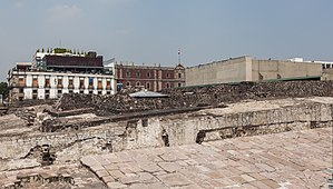 Templo Mayor - View of the Templo Mayor and the surrounding buildings.