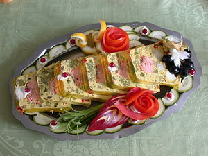Terrine (food) - A basil salmon terrine