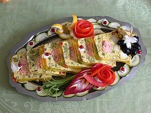 Basil salmon terrine