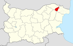 Tervel Municipality Within Bulgaria.png