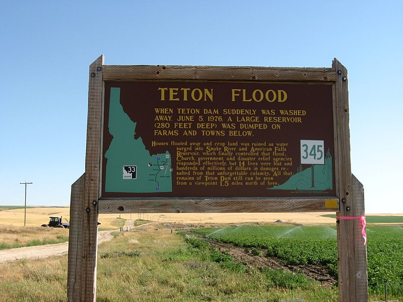 File:Teton Flood, Idaho Historical Marker 345, Teton, Idaho (1164633465).jpg