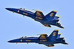 The Blue Angels perform at the Wings Over Wayne Air Show. (34435525440).jpg