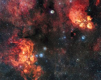 NGC 6334 - Image: The Cat's Paw and Lobster Nebulae