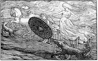 Sól (sun) - The Chariot of the Sun by W. G. Collingwood