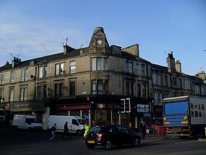 Cambuslang - The Clock Inn bar, junction of Main Street and Greenlees Road