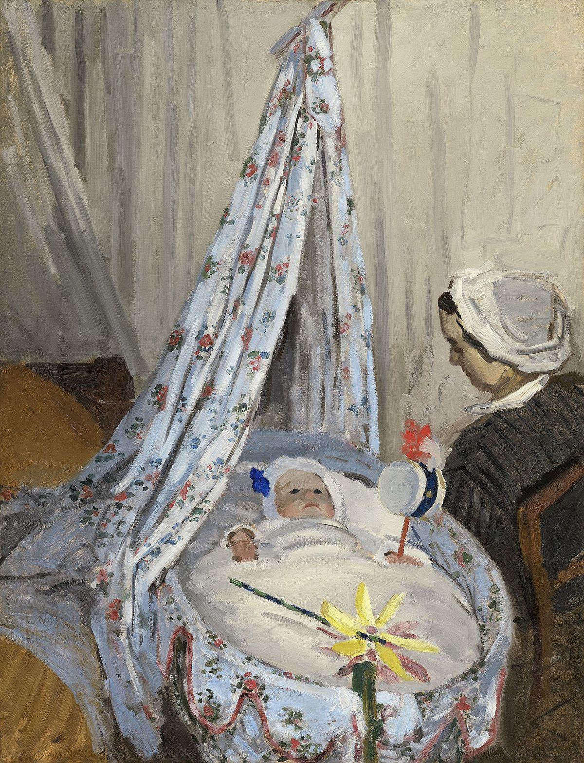Ficheiro:The Cradle - Camille with the Artist's Son Jean A14894.jpg –  Wikipédia, a enciclopédia livre