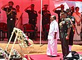 The Defence Minister, Shri A. K. Antony and the Chief of the Army Staff, General V.K. Singh laid wreath at the memorial of Field Marshal Manekshaw on his Birth Anniversary, at Ooty, Tamil Nadu on April 03, 2012 (1).jpg