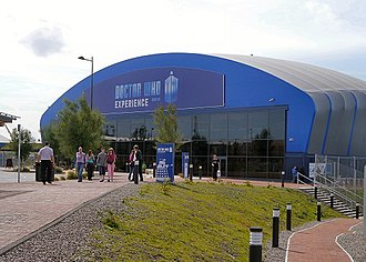 Doctor Who exhibitions - Entrance to the Doctor Who Experience in Cardiff