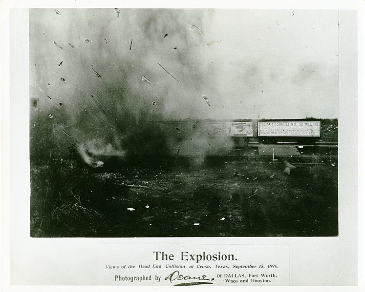 File:The Explosion, Views of the Head End Collision at Crush, Texas.jpg