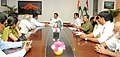 The Gen. Secretary, Tourist Guides Federation of India, Dr. Ajay Singh along with a delegation meeting the Minister of State for Culture (Independent Charge), Tourism (Independent Charge) and Civil Aviation (1).jpg
