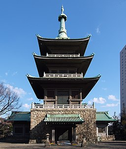 The Great Kanto Earthquake. at Tokyo Memorial Hall for the Casualties Pagoda