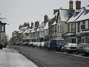 Highworth - High Street on a winter's day