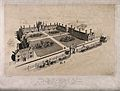 The Hospital of St. Peter, Wandsworth; bird's-eye view. Lith Wellcome V0013785.jpg