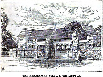 University College Thiruvananthapuram - The Maharajah's College, Trivandrum (p.103, 1891), London Missionary Society