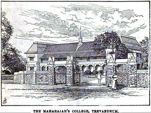 The Maharajah's College, Trivandrum (p.103, 1891), London Missionary Society[1]
