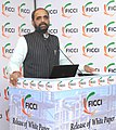 The Minister of State for Chemicals & Fertilizers, Shri Hansraj Gangaram Ahir addressing at the release of the White Paper on 'Key Challenges and opportunities in the Chloro-Vinyl Industry', in New Delhi on December 22, 2015.jpg