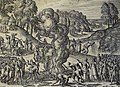 The Phillip Medhurst Picture Torah 598. Destroying the golden calf. Deuteronomy cap 9 v 41. Borcht.jpg