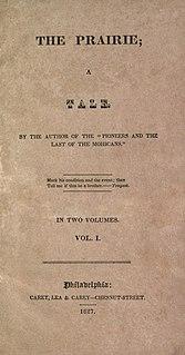 <i>The Prairie</i> 1827 historical novel by James Fenimore Cooper