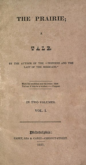 The Prairie - First edition title page