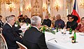 The President, Shri Ram Nath Kovind and the President of the Czech Republic, Mr. Milos Zeman, at the Delegation Level Talks between India and the Czech Republic, at 1st Courtyard, in Prague, Czech Republic.JPG