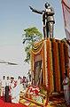 The President, Smt. Pratibha Devisingh Patil paying floral tributes to Bodhisattva Bharat Ratna, Babasaheb Dr. B. R. Ambedkar on his 119th Birth Anniversary, in New Delhi on April 14, 2010.jpg