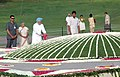 The Prime Minister, Dr. Manmohan Singh paying floral tributes at the Samadhi of late Prime Minister, Pandit Jawaharlal Nehru on his 45th Death Anniversary, at Shanti Van, in Delhi on May 27, 2009.jpg