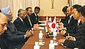 The Prime Minister, Dr. Manmohan Singh with the Japanese Prime Minister, Mr. Yukio Hatoyama, at the delegation level talks, on the sidelines of 7th India-ASEAN Summit, in Thailand, on October 24, 2009.jpg