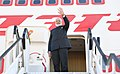 The Prime Minister, Shri Narendra Modi emplanes for New Delhi from Air Force Base Waterkloof, South Africa after concluding his visit to Rwanda, Uganda and South Africa, on July 27, 2018 (2).JPG