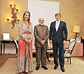 The Prime Minister, Shri Narendra Modi welcomed by His Majesty King Willem-Alexander and Queen Maxima, at Eikenhorst, Netherlands on June 27, 2017.jpg