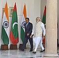 The Prime Minister, Shri Narendra Modi with the President of the Republic of Maldives, Mr. Abdulla Yameen Abdul Gayoom, in New Delhi on April 11, 2016 (2).jpg
