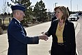 The USA's Secretary of the Air Force visits Cheyenne Mountain, 2015-05-27, 150415-VT441-005 (18204931465).jpg