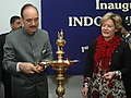 The Union Minister for Health and Family Welfare, Shri Ghulam Nabi Azad lighting the lamp to inaugurate the Indo-Swedish health Week in New Delhi on February 01, 2010.jpg