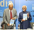 The Vice President, Shri M. Hamid Ansari releasing the book 'Safeguarding India' written by the Governor of Jammu and Kashmir, Shri N.N. Vohra, in New Delhi on March 12, 2016.jpg
