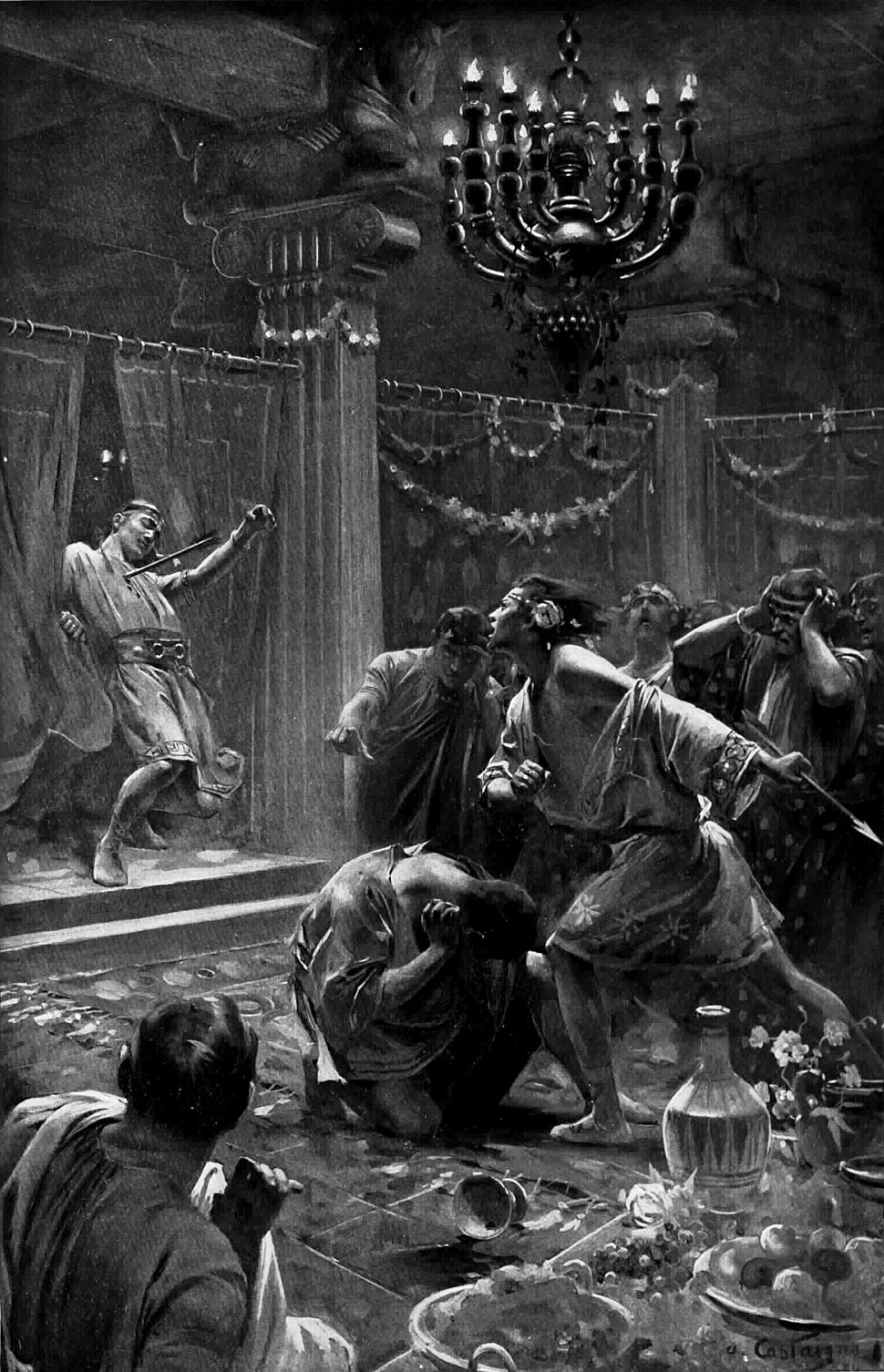 The killing of Cleitus by Andre Castaigne (1898-1899) reduced