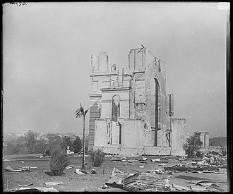 Garden Palace - Ruins of the Garden Palace, 1882