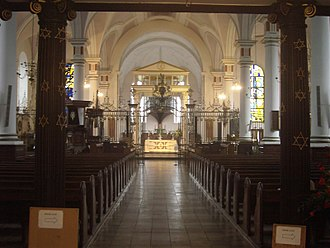 Derby Cathedral - Interior of the nave