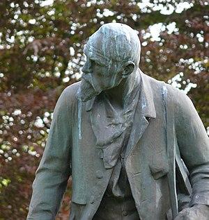 Théodore Baron - Baron monument, Namur, Belgium, by sculptor Charles van der Stappen