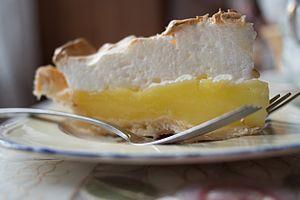 Lemon meringue pie - A slice of lemon meringue pie