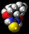 Thiobutabarbital molecule spacefill.png