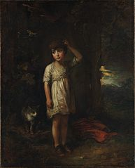 A Boy with a Cat—Morning