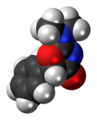 Thozalinone molecule spacefill.png