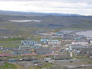 Urban-type settlement in Sakha Republic, Russia