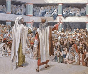 Tissot Moses and Aaron Speak to the People