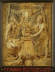 Design of the title page of the book 'Sarbievii Lyricorum libri IV'