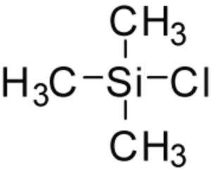 Trimethylsilyl chloride - Image: Tmscl stick 2